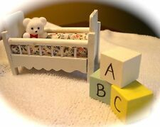 Baby's Crib Baby Shower Topper with Bear & ABC Blocks