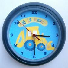 BRAND NEW KIDS WALL CLOCK with NEXT LITTLE DIGGER  FREE P&P
