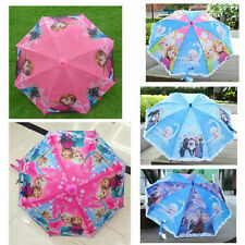 Disney Kids Umbrella Frozen Snow Queen Elsa Anna Princess Childrens Automatic Ra