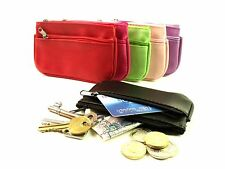 LADIES NEW SMALL COIN POUCH CREDIT CARD & KEY RING WALLET PURSE POUCH 1505