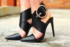 ZARA WOMAN S S 2014 collection LEATHER HIGH HEEL SHOE WITH BUCKLE  Ref. 1228/301