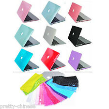 """Rubberized Rigid Crystal case for Macbook AIR 11"""" 13"""" 15"""" Pro Retina+ Free Cover"""