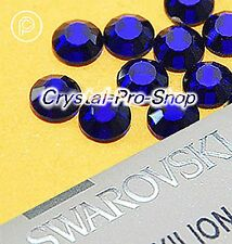 GENUINE Swarovski Cobalt (369) Hotfix Rhinestone Iron On Round Crystal Bead Gem