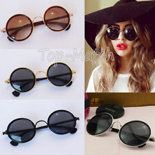 Newest Retro 90s Unisex Round Lens Sunglasses Steampunk Glasses Goggles Gifts