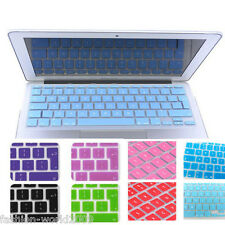 """UK EU Silicone Keyboard Cover for Apple Macbook Mac Pro Air 11""""13""""15""""17""""Colors"""
