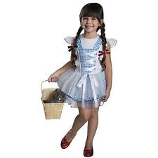 Girls Wizard of Oz Dorothy Costume Blue White Dorthy Fancy Dress Kids Child NEW