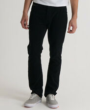 New Mens Superdry Officer Slim Cord Pant Trousers Black