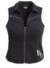 Harley-Davidson Women's Sleeveless Woven Shirt with Eagle Graphic. 99112-11VW