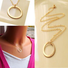 Elegant Karma Silver/gold Eternity Infinity Ring Circle Pendant Necklace Chains