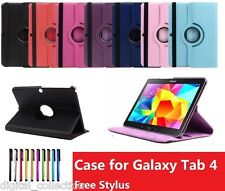 360 Rotating PU Leather Stand Case Cover for Samsung Galaxy Tab 4 7 7.0 T230 7""