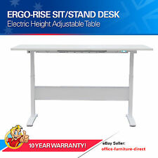 Electric Height Adjustable Desk Sit Stand Office Desks - 150kg Lifting Capacity