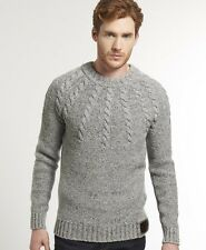 New Mens Superdry Propeller Knit Grey Nep