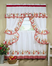 Fruitopia Printed Cottage Kitchen Curtain Tier Set By Achim Importing Co. Fruit