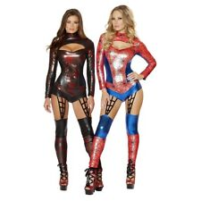 Spider-Girl Costume Adult Womens Sexy Female Superhero Halloween Fancy Dress