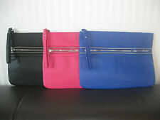 Atmosphere by Primark Zipper Clutch in pink blau Handtasche Tasche NEU