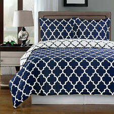 Meridian Navy Duvet cover set 100%Egyptian Cotton (Available in 3 Sizes)