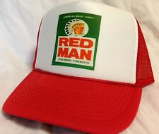 Red Man Chew Trucker Hat mesh hat Snap Back adjustable NEW chewing tobacco Red