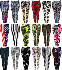 New Womens Ladies Leggings Jeggings Tights Skinny Stretchy Pants Full Plus Size