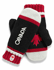 Canada Winter OLYMPIC COLLECTION 2014 New Black Red Mittens Maple Leaf  all size