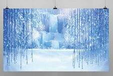 Frozen Ice Drop Birthday Party Decoration Kids Photo Booth Vinyl Banner Backdrop