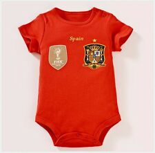 "0-12 MONTHS OLD BABY 100% COTTON  BABYSUIT - ""SPAIN"" HOME ROMPER  - 100% COTTON!"