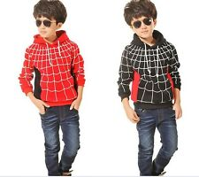 2014 new fashion boys hooded sweater hooded Spider-Man