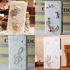 For Sony Xperia E3 3D bling FLIP WALLET card clip LEATHER CASE COVER holster