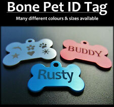 Aluminium Bone Pet Tag With FREE Engraving for Dog Cat Puppy Tags + FREE postage
