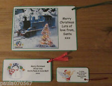 3 sizes ~PERSONALISED Children and Adult Christmas gift tags~Keep sake gift tags