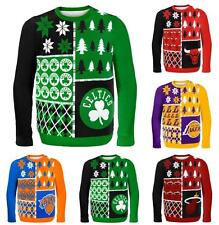NBA 2014 Logo Ugly Christmas Sweater Busy Block Style - Pick Your Team!