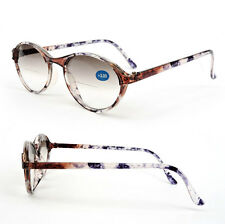 Bifocal Vision Cat Eye Tortoise Blue Women's Sun Reading Glasses 150 - 400