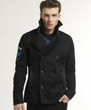 New Mens Superdry Super Liberty Peacoat Jacket Black