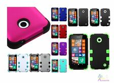 Nokia Lumina 635 Cool Solid Color TUFF Dual Layer Hybrid Protector Cover Case