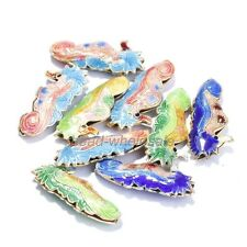 20pcs Equisite Seahorse Cloisonne Beads Spacer Pendants Finding Making,new