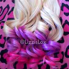 """Blonde Purple Pink Ombre Balayage Dip Dye Clip In Remy Human Hair Extensions 20"""""""