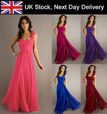 Formal Long Evening Ball Gown Cocktail Party Prom Bridesmaid Dress 8 10 12 14 16