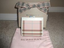 (New!! Unused!) Authentic BURBERRY Nova Check Pink Leather French Wallet Purse