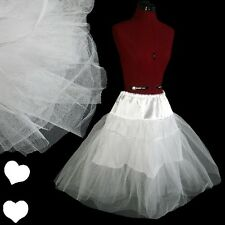 New White 50s Swing Dress Petticoat Crinoline S M L Xl 1X 2X 3X Rockabilly Tulle
