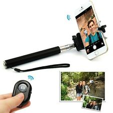 Selfie Handheld Monopod Stick +Holder + Bluetooth Wireless Remote for Cell Phone