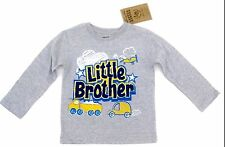Little Brother Gray Long Sleeve T-Shirt Toddlers Boys Size 2T 3T 4T 5T Rebels