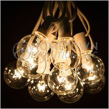 50 Foot Outdoor Globe Party String Lights - Set of 50 G40 Clear Bulbs