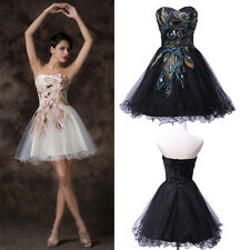 Peacock Short Mini Formal Prom Cocktail Ball Evening Party Gown Homecoming Dress