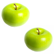 Artificial Green Apples - Plastic Decorative Fruit - Choose Quantity Required