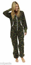 Mens Womens Ladies Adult Unisex Plain ZipUp Onesie All In One Jumpsuit Playsuit
