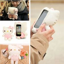 Lovely 3D Cute Hello Kitty Plush Toy Doll Case Cover For Nokia Sony Cell Phones