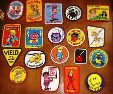 LARGE LOT OF VINTAGE EMBROIDERED PATCHES