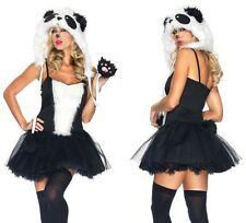 NEW Sexy Playful Panda Petticoat Dress and Hoodie Hallowee Adult Women's Costume