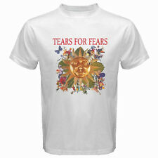 New TEARS FOR FEARS Roll Down Greatest Hits Men's White T-Shirt Size S to 3XL