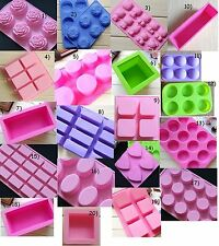 Various Round Heart Rectangle Oval Silicone Mold For Cake Chocolate Soap Mould