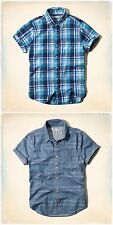 NWT HOLLISTER By Abercrombi​e Cuffed Sleeves Shirt new AF A&F HCO